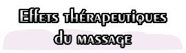Effets thérapeutiques du massage